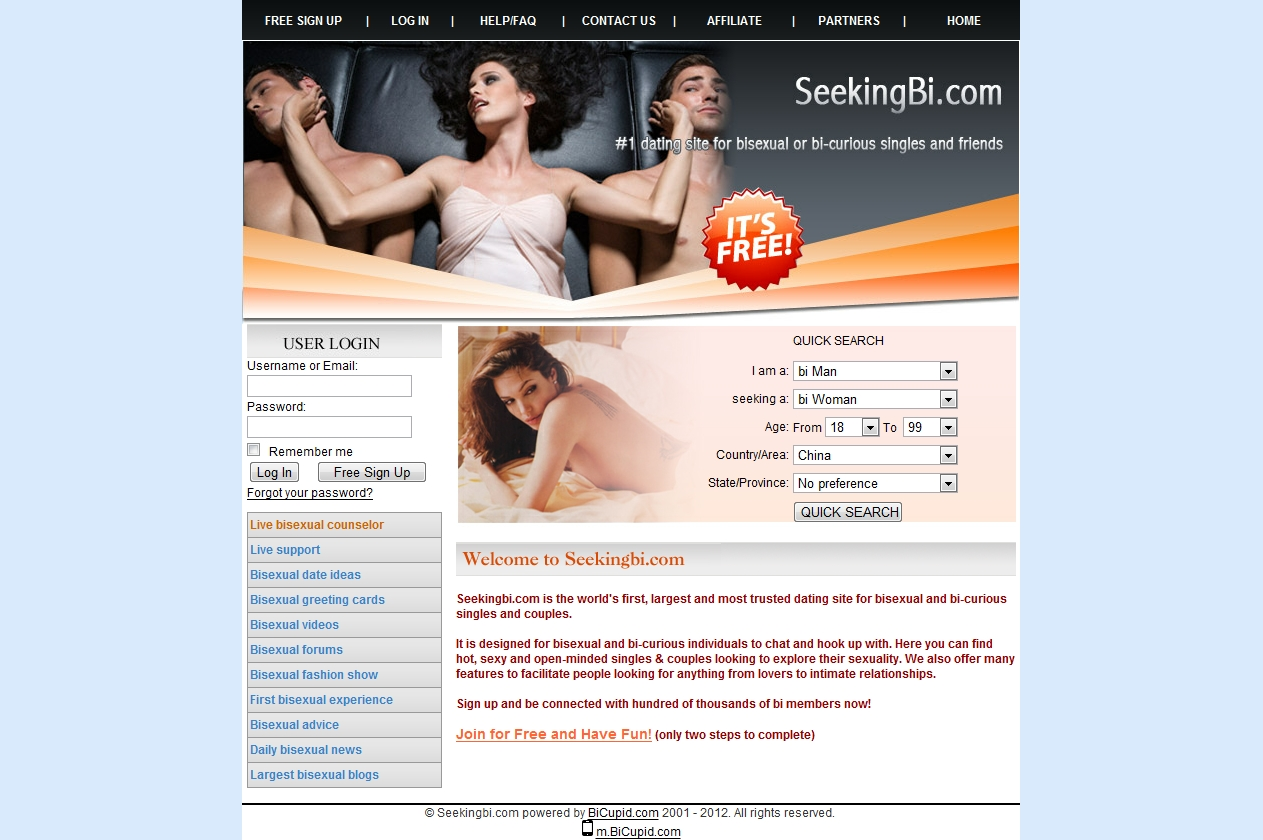 Dating bisexual websites