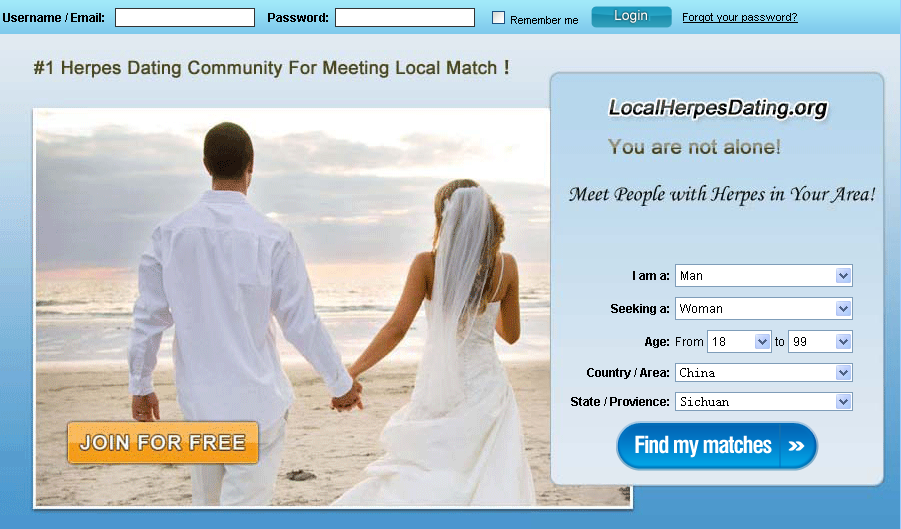 dating sites with herpes Positivesingles is the best, largest, completely anonymous and most trusted online dating site for people with herpes, hpv, hiv / aids and other stds in the world we have 60,000+ std dating success stories, 120,000+ daily conversations, 15,000+ daily active members and 500+ daily blog posts.