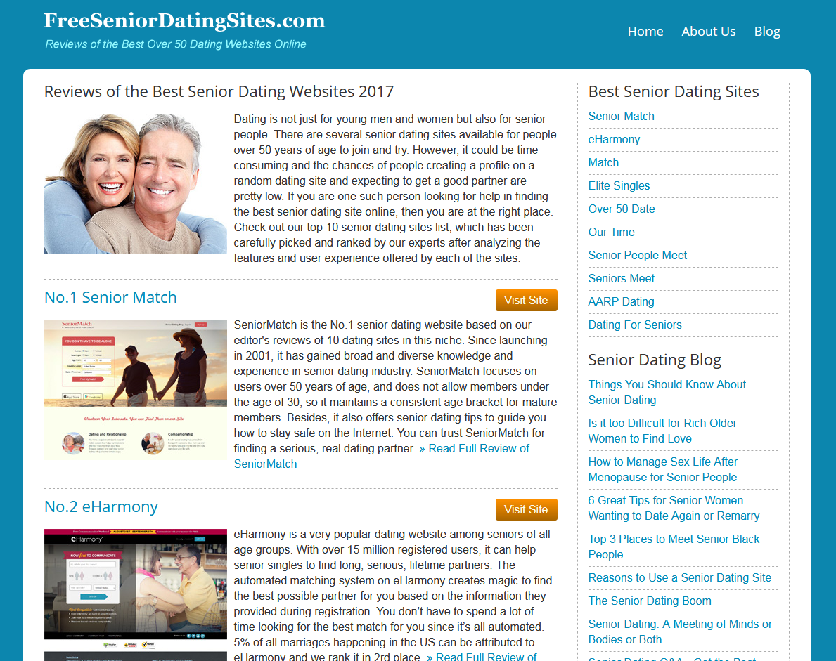 Online dating sites for senior citizens